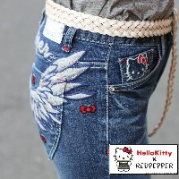 【HELLO KITTY×REDPEPPER】RED PEPPER JEANS レッドペッパー ジーンズコラボジーンズ スキニー No.RJ1058 レディース【2018S/S新作】【あす楽】...