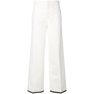 Moncler flared style trousers - ホワイト