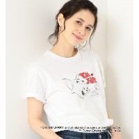 [WEB限定] SC Tom&Jerry Tシャツ【グリーンレーベルリラクシング/green label relaxing レディス Tシャツ・カットソー WHITE ルミネ LUMINE】