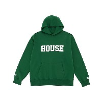 IN THE HOUSE  HOUSE COLLEGE HOODIE(Men's) グリーン/ホワイト 【三越・伊勢丹/公式】 メンズウエア~~パーカー