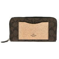 COACH OUTLET コーチ アウトレット 長財布 レディース ブラウン ピンク F22712 SVMWL 【coao】