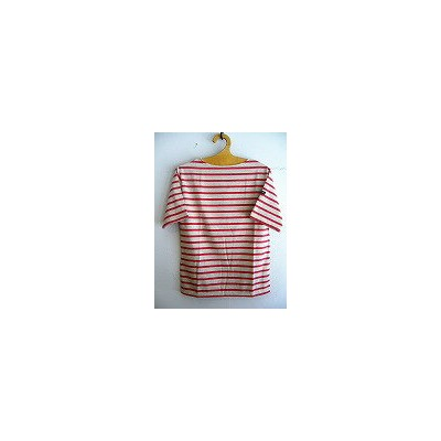 【SALE】SAINT JAMES(セントジェームス) PIRIACピリアック SHORTSLEEVE *NATUREL/GRENAT*