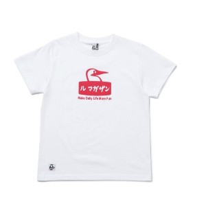 【CHUMS×LeMagasin】コラボ ル マガザンTシャツ【アダム エ ロペル マガザン/Adam et Rope Le Magasin レディス, メンズ Tシャツ・カットソー ホワイト(10...