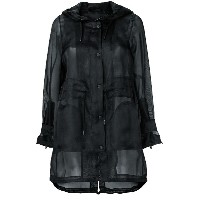 Herno sheer button up coat - ブラック