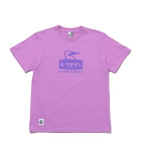 【CHUMS×LeMagasin】コラボ ル マガザンTシャツ【アダム エ ロペル マガザン/Adam et Rope Le Magasin レディス, メンズ Tシャツ・カットソー パープル(50...