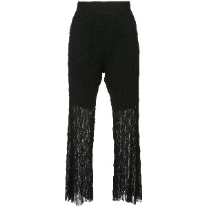 Lost & Found Ria Dunn flared cropped trousers - ブラック