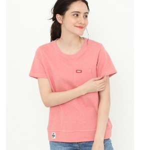 【CHUMS】ポケットクルートップス【アダム エ ロペル マガザン/Adam et Rope Le Magasin レディス Tシャツ・カットソー ピンク(63) ルミネ LUMINE】