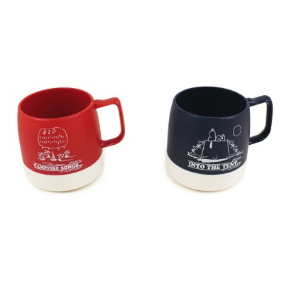 DINEX スヌーピーマグカップ ダイネックス SNOOPY/PEANUTS PRINTED 8oz MUG/CAMPFIRE SONGS/INTO THE TENT
