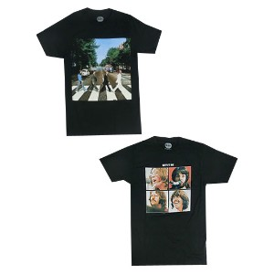 ROCK TEE THE BEATLES Let It Be Abbey Road プリントTシャツ