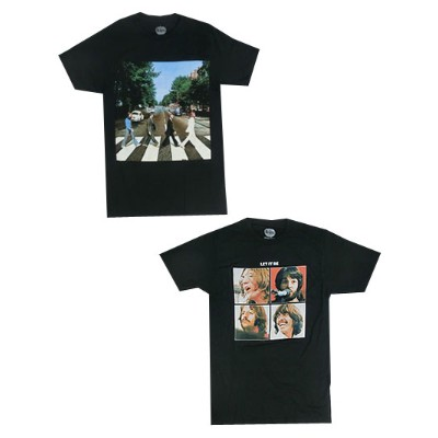 【SALE】ROCK TEE ビートルズ THE BEATLES Let It Be Abbey Road プリントTシャツ