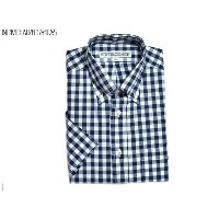 INDIVIDUALIZED SHIRTS(インディビジュアライズド シャツ)/SHORT SLEEVE STANDARD FIT FULLOPEN MIDDLEBAND BIG GINGHAM B...