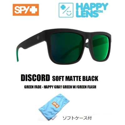 ■ SPY OPTICS スパイ【 DISCORD ディスコード 】【 SOFT MATTE BLACK - GREEN FADE - HAPPY GRAY GREEN W/GREEN FLASH ...