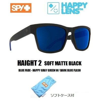 SPY OPTICS スパイ 【 HAIGHT 2 ハイト2 】【 SOFT MATTE BLACK/BLUE FADE - HAPPY GRAY GREEN W/ DARK BLUE FLASH ...