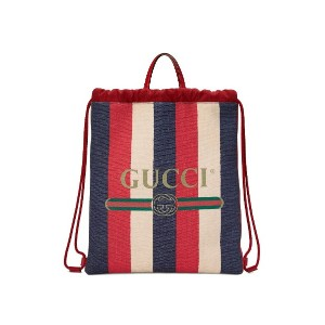 Gucci GUCCI プリント ミディアム ドローストリング バックパック - レッド