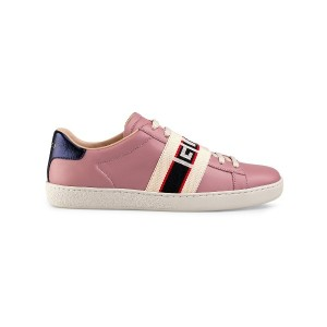 Gucci Ace sneaker with Gucci stripe - ピンク