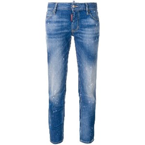 Dsquared2 Medium Waist Cropped Twiggy jeans - ブルー