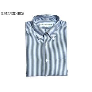 INDIVIDUALIZED SHIRTS(インディビジュアライズド シャツ)/SHORT SLEEVE STANDARD FIT FULLOPEN MIDDLEBAND OXFORD STRIPE...
