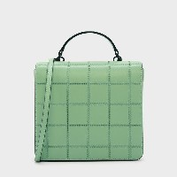 【SALE 30%OFF】キルトフロント フラップバッグ / QUILTED FRONT FLAP BAG (Green) レディース