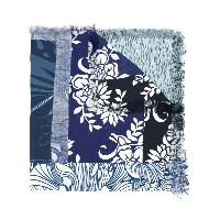 Pierre-Louis Mascia multi-pattern scarf - ブルー