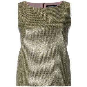 Dsquared2 metallic woven sleeveless top - メタリック