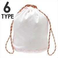 Ron Herman(ロンハーマン) White Color Drawstring Pouch M (ドローストリングポーチ)(巾着) 290-004606-044x【新品】