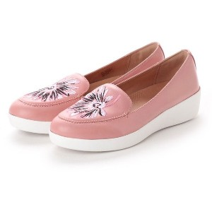 【SALE 50%OFF】フィットフロップ FitFlop SNEAKERLOAFER - DAISY-STITCH EMBROIDERY (Dusky Pink) レディース