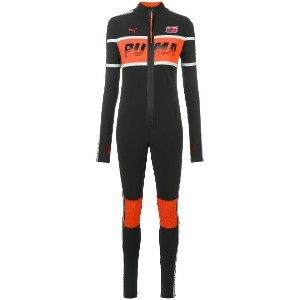 Fenty X Puma colour panel fitted racing suit - ブラック