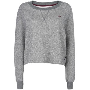 レディース EMPORIO ARMANI LADIES KNITTED LONG パジャマ グレー