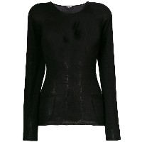 Chanel Vintage round neck jumper - ブラック