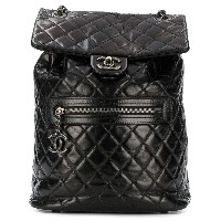 Chanel Vintage quilted backpack - ブラック