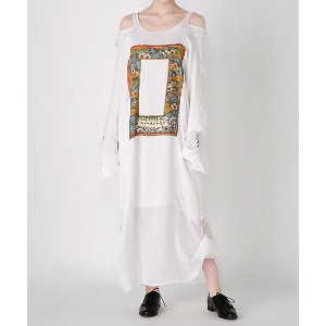 GROWING PAINS/グローイングペインズ  GAUZE ONEPIECE(GP18SS-OP02) WHITE 【三越・伊勢丹/公式】 レディースウエア~~ワンピース