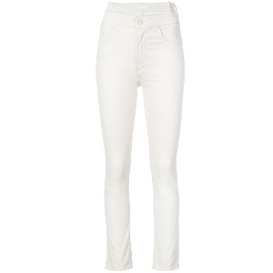 Mother high-waist skinny jeans - ホワイト