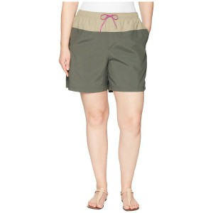 コロンビア レディース ハーフパンツ・ショーツ ボトムス Plus Size Sandy River Color Blocked Shorts Gravel/Tusk/Bright Lavender