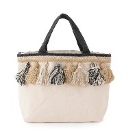 【Lilas Campbel】LP tassel totebag【アダム エ ロペル マガザン/Adam et Rope Le Magasin レディス トートバッグ ブラック(01) ルミネ...