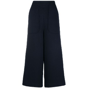 See By Chloé high-waisted cropped trousers - ブルー