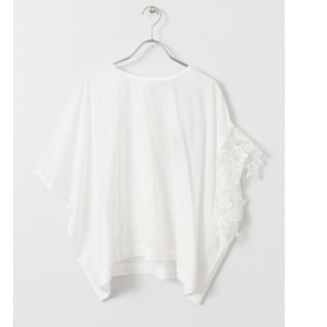 DOORS mizuiro-ind asymmetry wide lace pullover【アーバンリサーチ/URBAN RESEARCH レディス シャツ・ブラウス off white ルミネ...