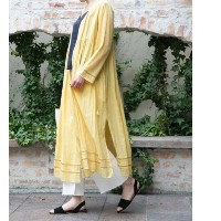 UR ne Quittez pas COTTONVOILCROSSOVER GOWN【アーバンリサーチ/URBAN RESEARCH レディス その他(アウター) YELLOW ルミネ LUMINE】
