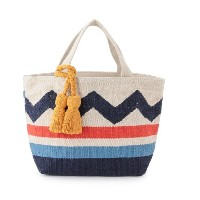 【Lilas Campbel】LP TOTE BAG fiesta【アダム エ ロペル マガザン/Adam et Rope Le Magasin レディス トートバッグ ネイビー(40) ルミネ...