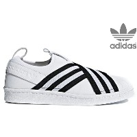 adidas Originals SUPERSTAR SLIPON W AC8581 RUNNING WHITE/RUNNING WHITE/CORE BLACKアディダス オリジナルス...