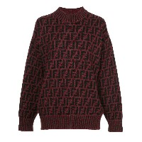 Fendi Pre-Owned Zucca pattern knit top - レッド