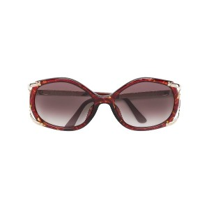 Christian Dior Vintage round framed sunglasses - ブラウン