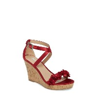 チャールズ・デイビッド レディース ヒール シューズ Charles by Charles David Lauryn Wedge Sandal (Women) Scarlet Satin