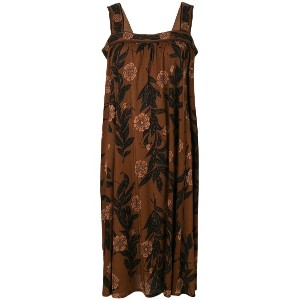 Emilio Pucci Vintage floral print flared dress - ブラウン
