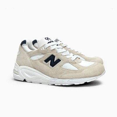 NEW BALANCE ニューバランス メンズ スニーカー M990 MADE IN U.S.A. OFF WHITE/GREY/NAVY M990WE2 CLASSICS ホワイト グレー...