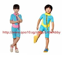 子供たちダイビングスーツ水着補償 2.5mm Neoprene Kids Wetsuit Dive Wet Suit Child Swimwear Long Sleeved Sunscree