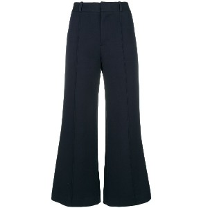 See By Chloé flared cropped trousers - ブルー