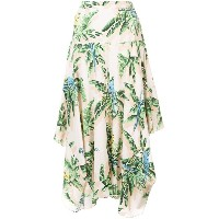 Stella McCartney asymmetric printed skirt - ニュートラル