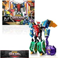 Young Toys 5 in 1 Geo Mecha Captain Dion Transforming Toy Robot Baby Toy