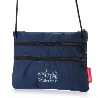 マンハッタンポーテージ Manhattan Portage CORDURA® Lite Collection Triple Zipper Pouch(L) (Navy) レディース メンズ