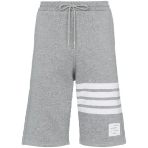 Thom Browne striped cotton jersey shorts - グレー